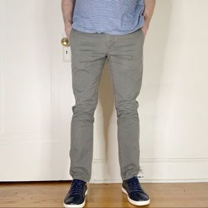 Bonobos Tailored Fit Stretch Chino Pants Gray
